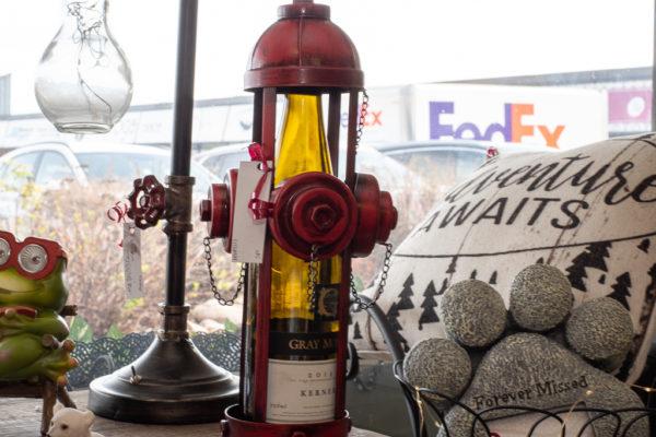 fire hydrant wine bottle holder