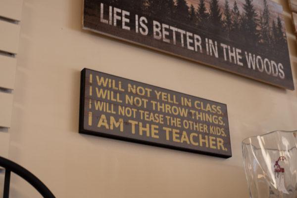 I am the teacher wall decor