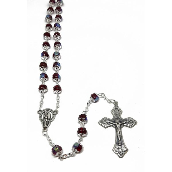 Red Double Capped Rosary